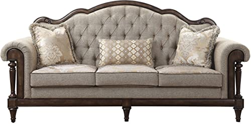 Lexicon 91-Inch Fabric Sofa, Brown