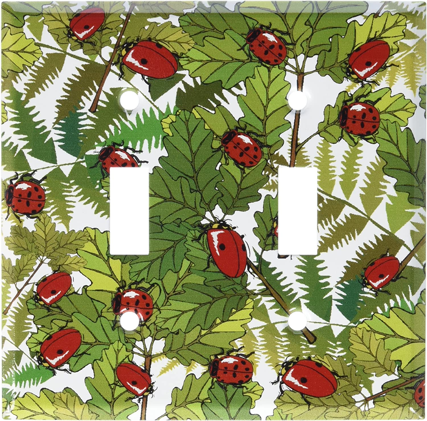 Ladybugs and Leaves Switch Plate Art Plates Outlet Cover