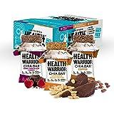 Health Warrior Chia Bars Variety Pack, Chocolate Peanut Butter/Dark Chocolate Cherry/Coffee, 15 Count