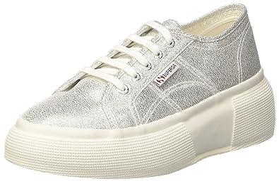 Superga 2287-Cotmetw, Baskets Femme, é (Grey Silver 031), 36 EU