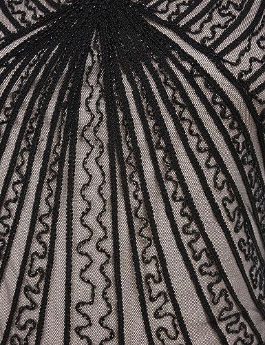 Kayamiya Womens Retro 1920s Inspired Beaded Art Deco Fringe Lace Flapper Dress: Amazon.co.uk: Clothing