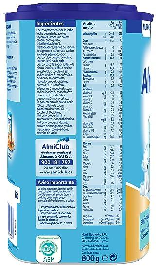 Almirón AR 2 Leche de fórmula anti-regurgitación en polvo desde los 6 meses - 800 g: Amazon.es: Amazon Pantry