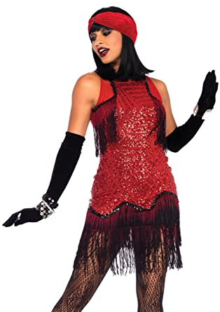 2025cc3d51b47 Leg Avenue Womens 2-Piece Gatsby Flapper Costume