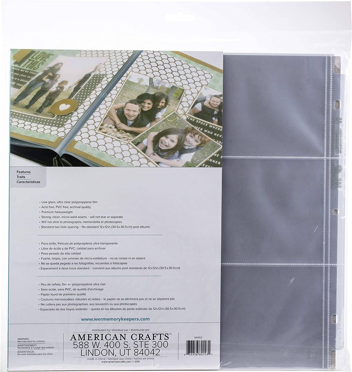 We R Memory Keepers We R Postbound Photo Sleeves 12x12 10//Pkg-Six 4x6 Pockets
