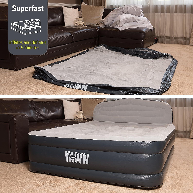 Amazon.com: Cama hinchable YAWN tamaño Queen, elevada y ...