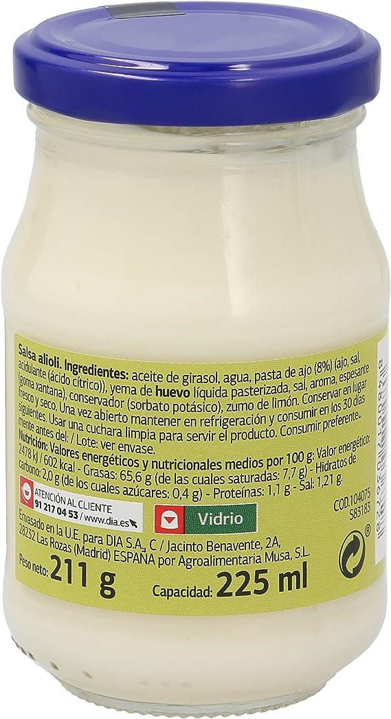 DIA salsa alioli frasco 225 ml: Amazon.es: Alimentación y bebidas