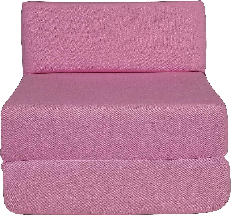 Tesco Sit N Sleep Kids 100% Cotton Single Sofa Bed Pink