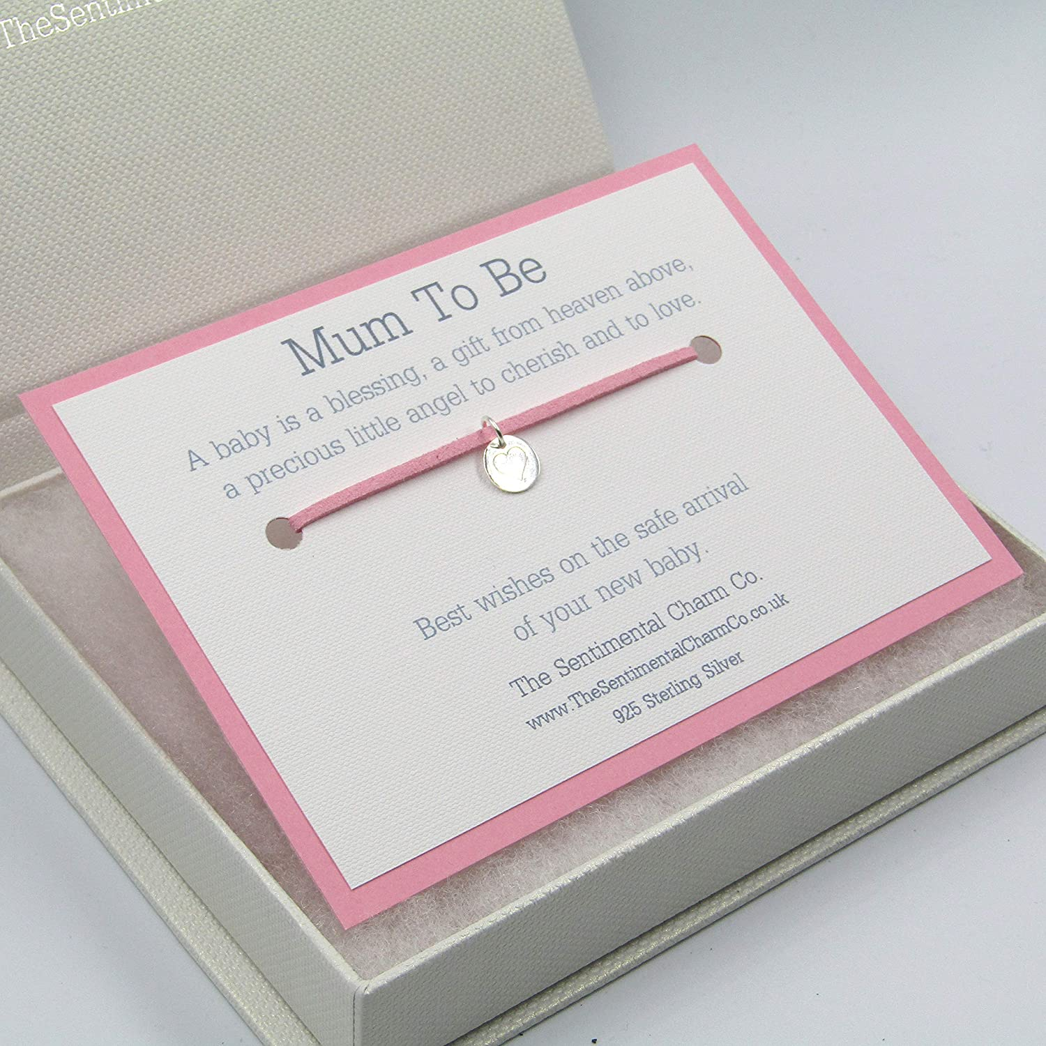0298 Mum To Be Wish Bracelet Sterling Silver 925 A Baby Gift From Heaven Quote Boy Girl
