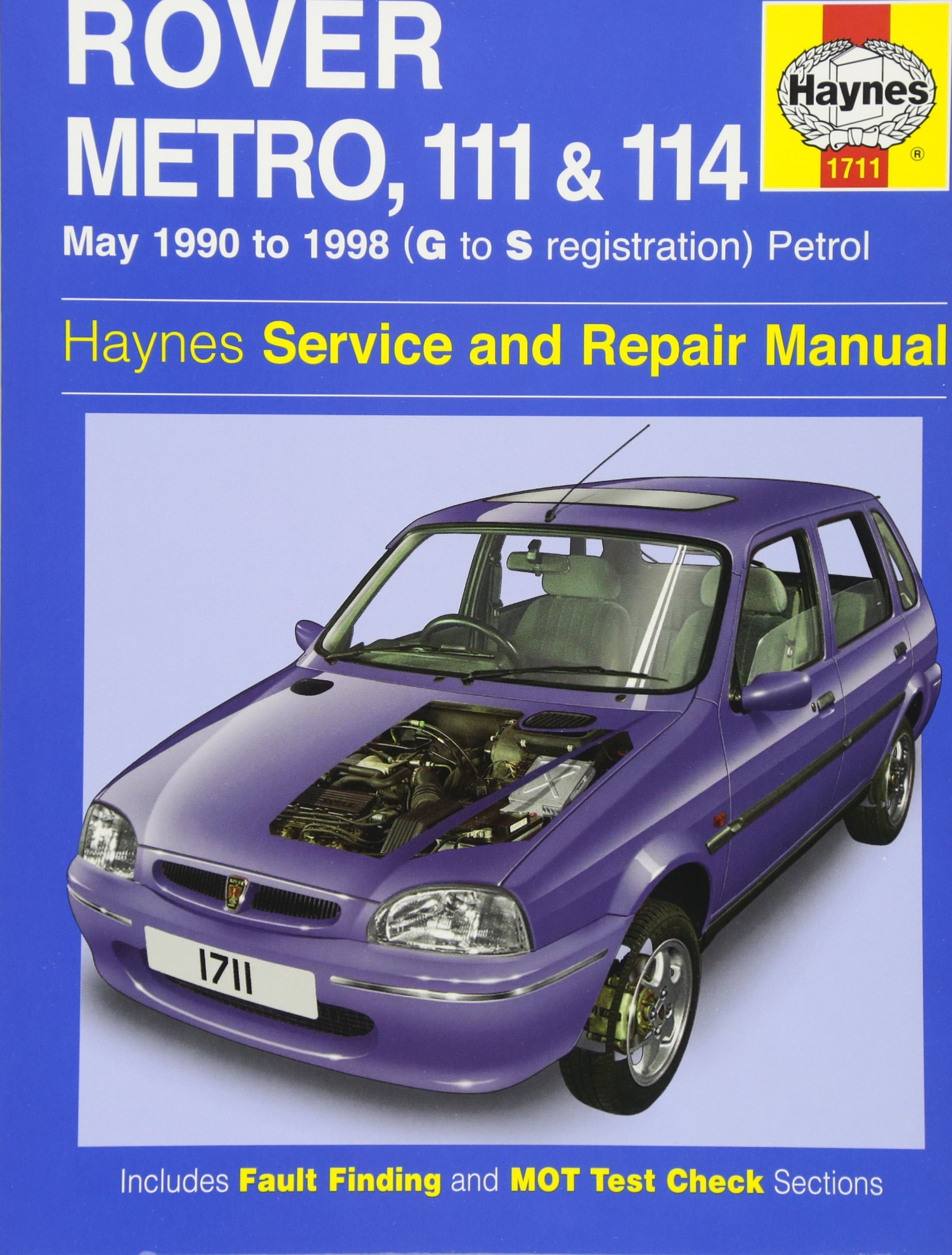Rover Metro, 111 and 114 Service and Repair Manual: 1990 to 1998 (Haynes  Service and Repair Manuals): Jeremy Churchill, Chris Rogers: 9781859607671:  ...
