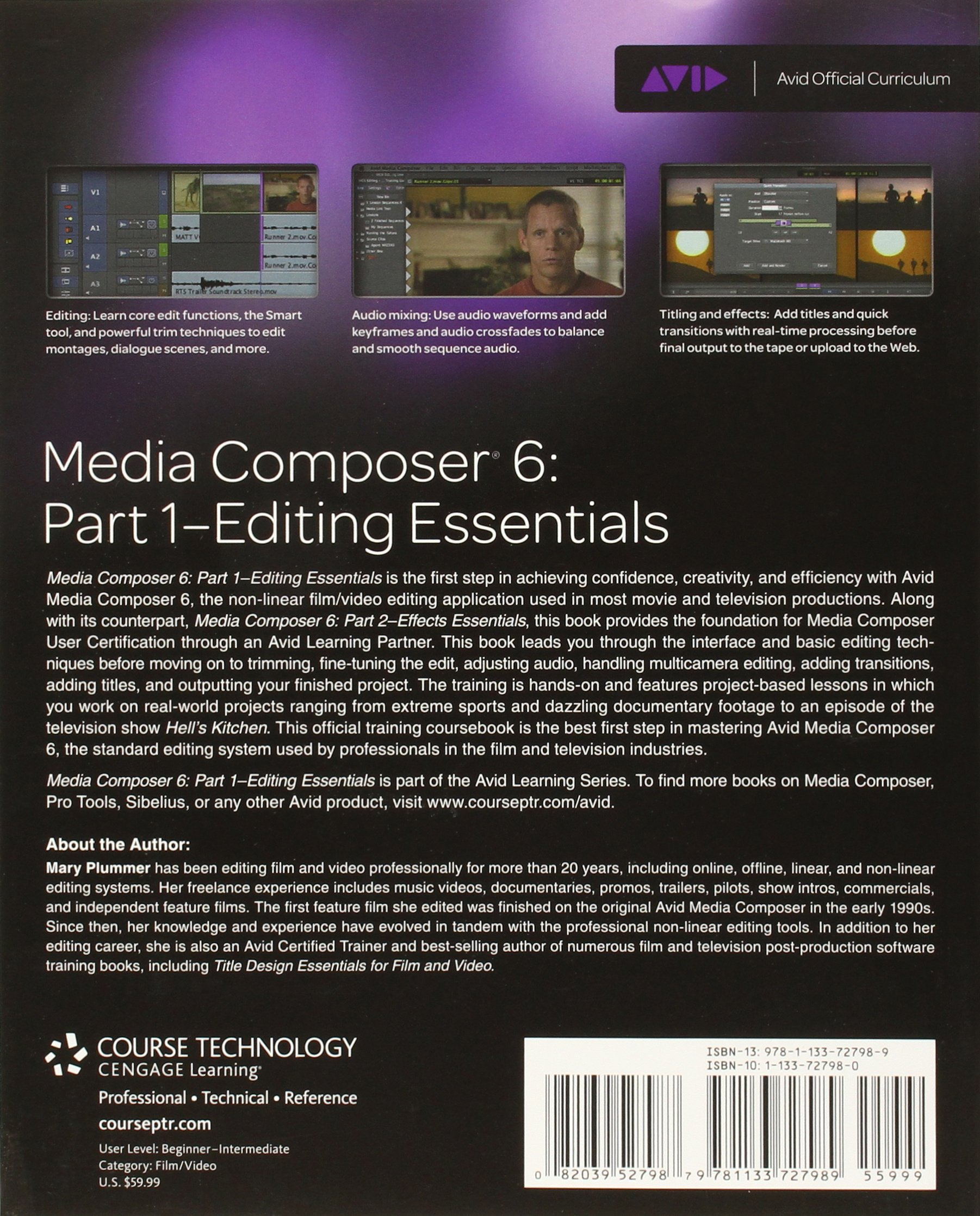 Media Composer 6: Part 1 - Editing Essentials (Avid Learning) by Brand: Course Technology PTR
