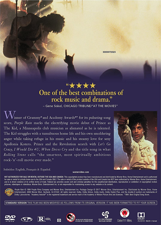 Amazon com: Purple Rain (Line Look/DVD): Prince, Apollonia