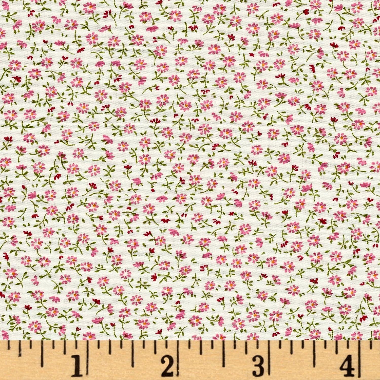 Robert Kaufman Kaufman Sevenberry Petite Garden Buds Quilt Fabric By The Yard, Blossom