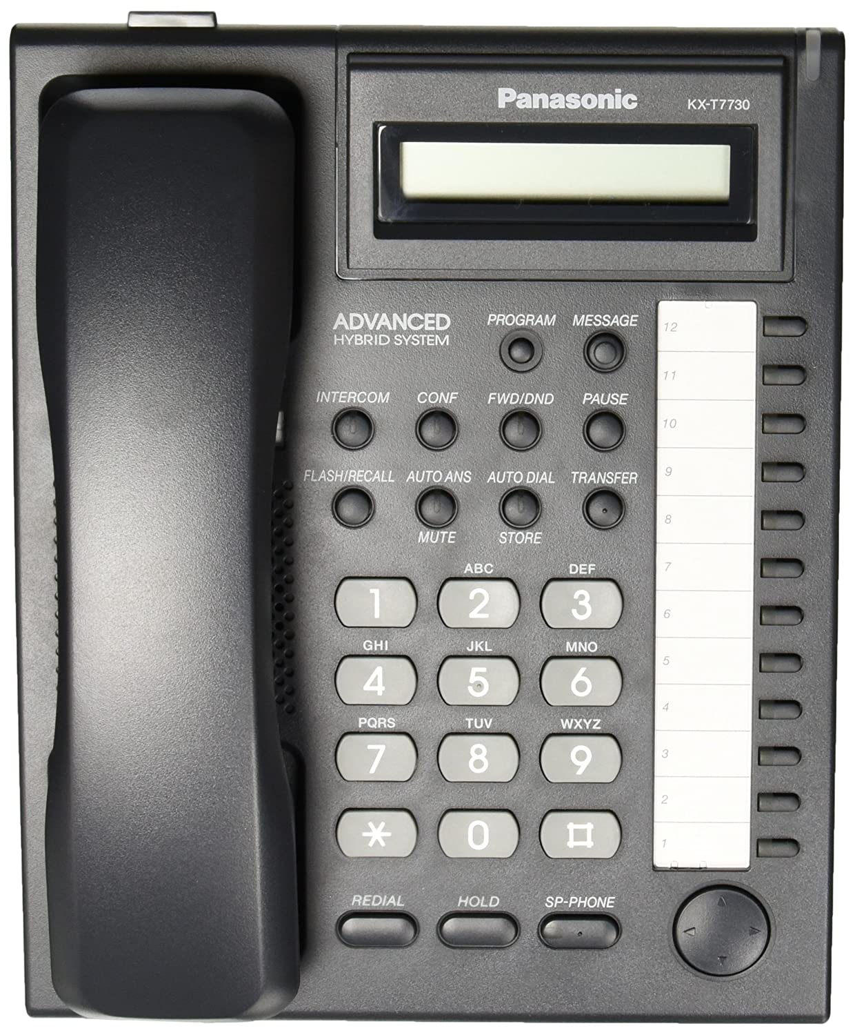 Amazon.com : Panasonic KX-T7730 Telephone Black : Corded Telephones :  Electronics