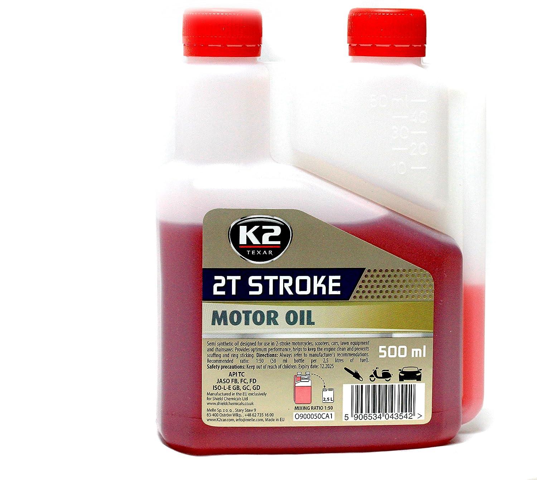 K2 aceite de motor 2T Semi sintético rendimiento dos tiempos motor ...