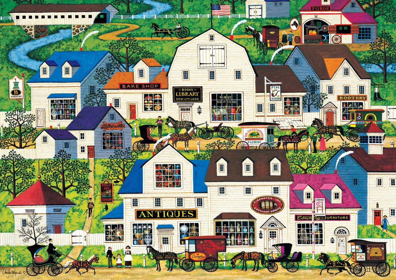 Buffalo Games - Charles Wysocki Americana Collection - Shops & Buggies - 500 Piece Jigsaw Puzzle
