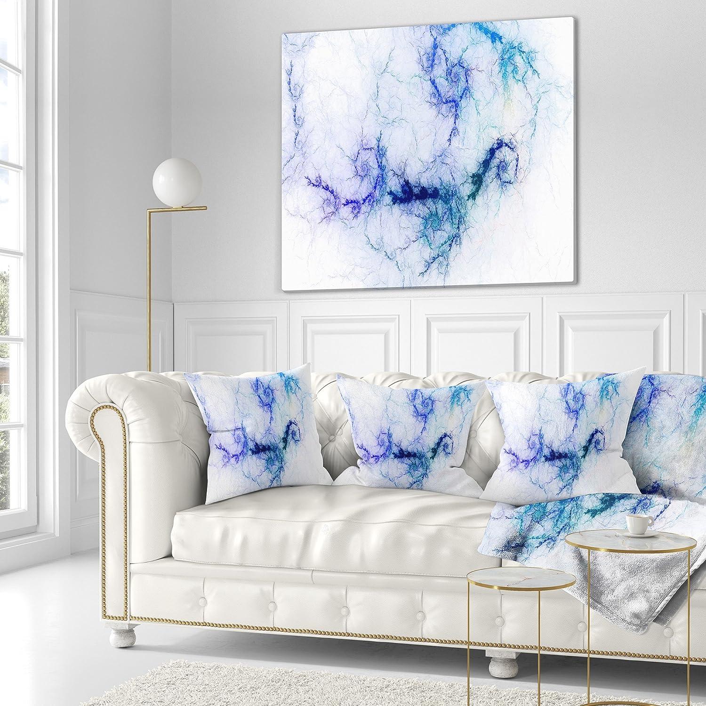 Designart CU7707-20-20-C Sparkling Blue Stormy Sky Throw Pillow 20