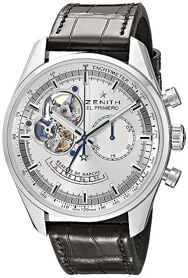 Zenith 03.2080.4021_01.C494 reloj mecánico automático para hombre: Amazon.es: Relojes