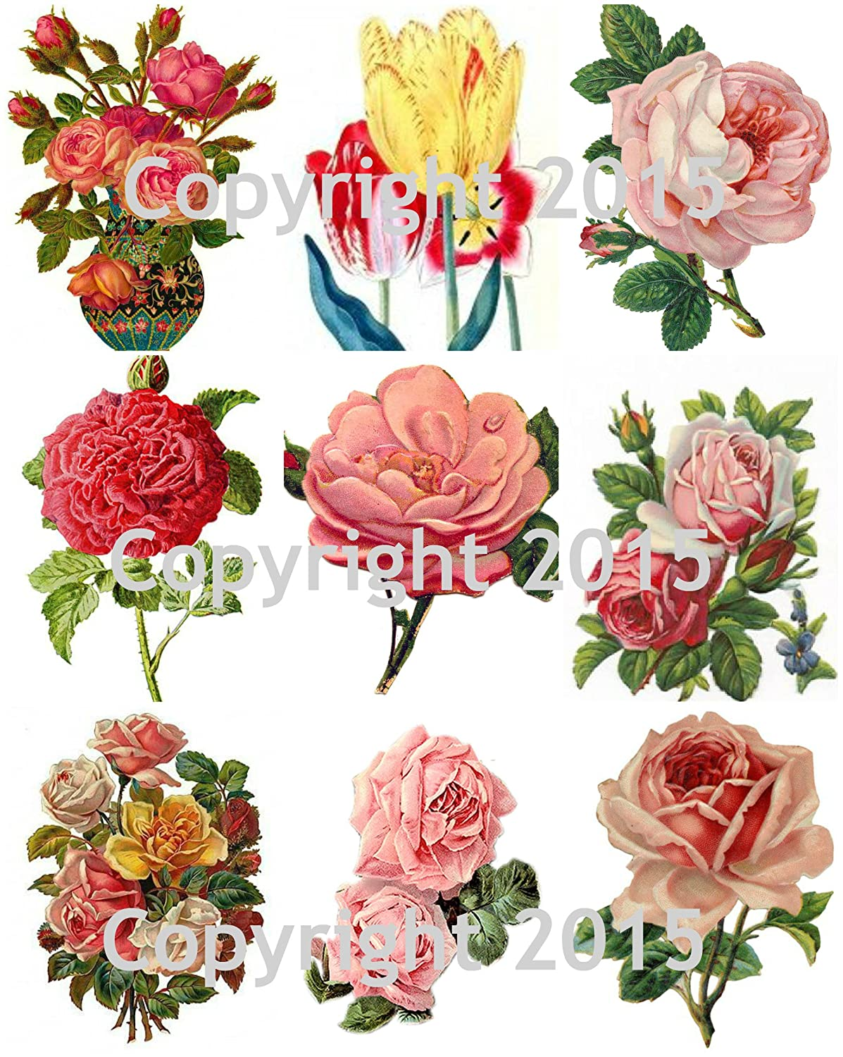 Victorian Flowers Collage Sheet #103 Paper Moon Media