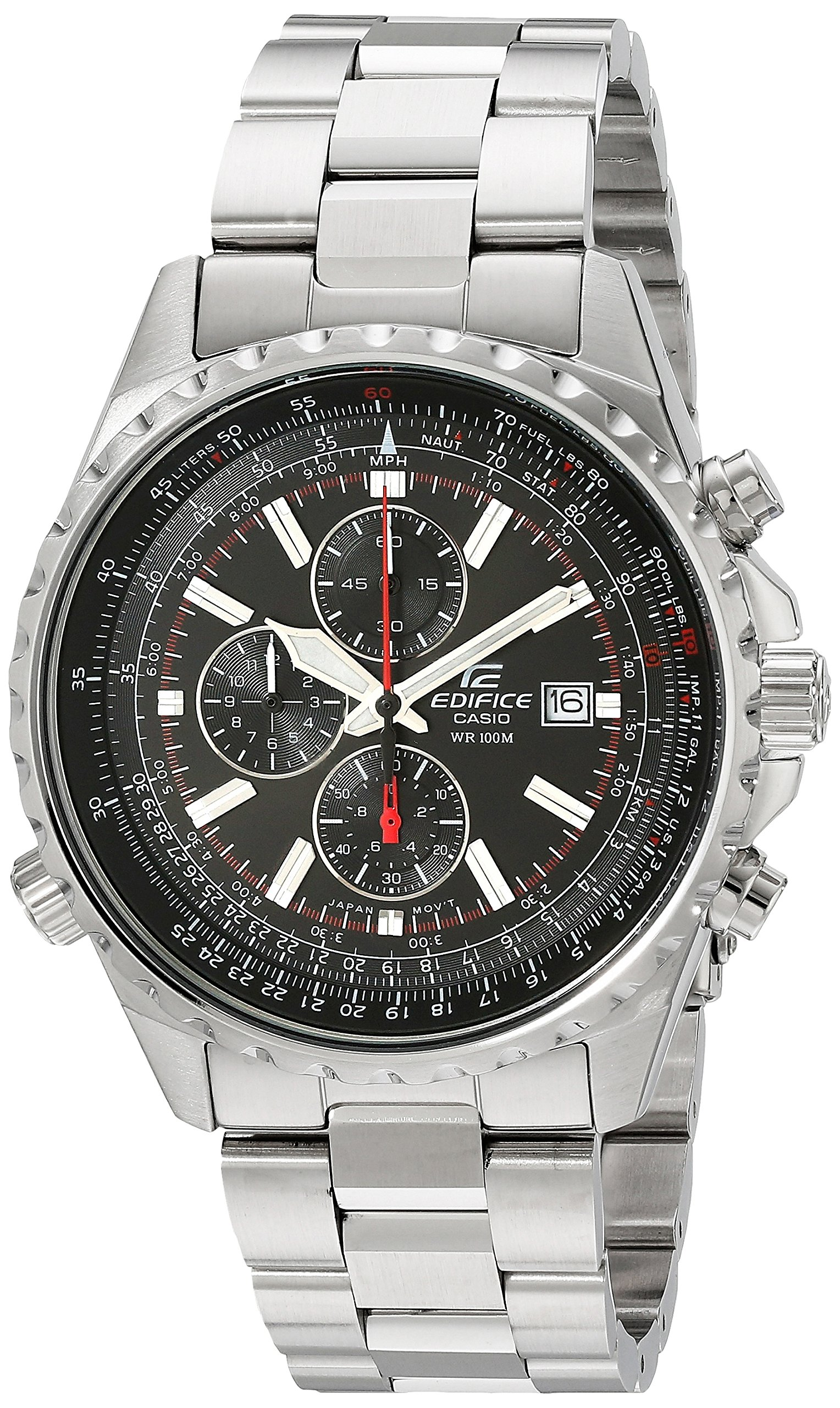 "Men's EF527D-1AV ""Edifice"" Stainless Steel Multi-Function Watch"