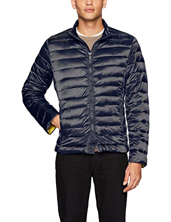 Bugatchi Mens Nylon Horizontal Quilted Bomber Jacket At Amazon