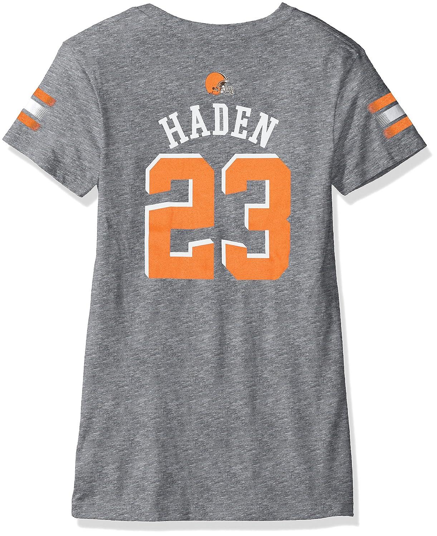 【★安心の定価販売★】 Outerstuff NFL Girls 7 – Cleveland 16 B06WRVDHBV Outerstuff Joe Haden Cleveland Browns Girls – メインストライプVネックPlayer Name半袖Tシャツ、ヘザーグレー、L (14 ) B06WRVDHBV, GOOYAN:00b4f6b5 --- a0267596.xsph.ru