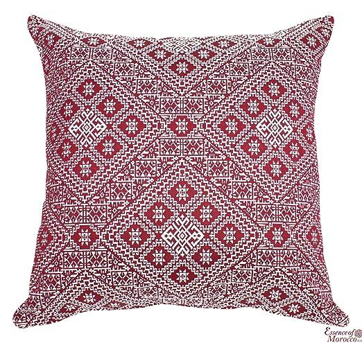 Marroquí cojín funda de almohada hecha a mano cuadrado ...