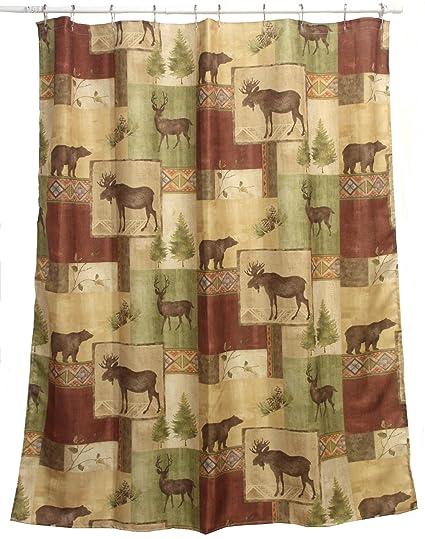 Amazon Bacova Guild Mountain Lodge Fabric Shower Curtain Home
