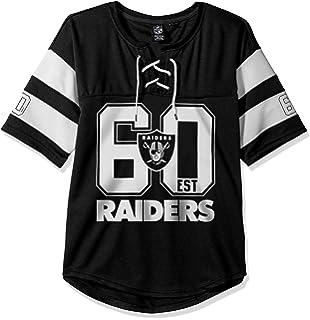 a4368808e95 Amazon.com   Oakland Raiders Women s Sequin Arch Split Neck T-shirt ...