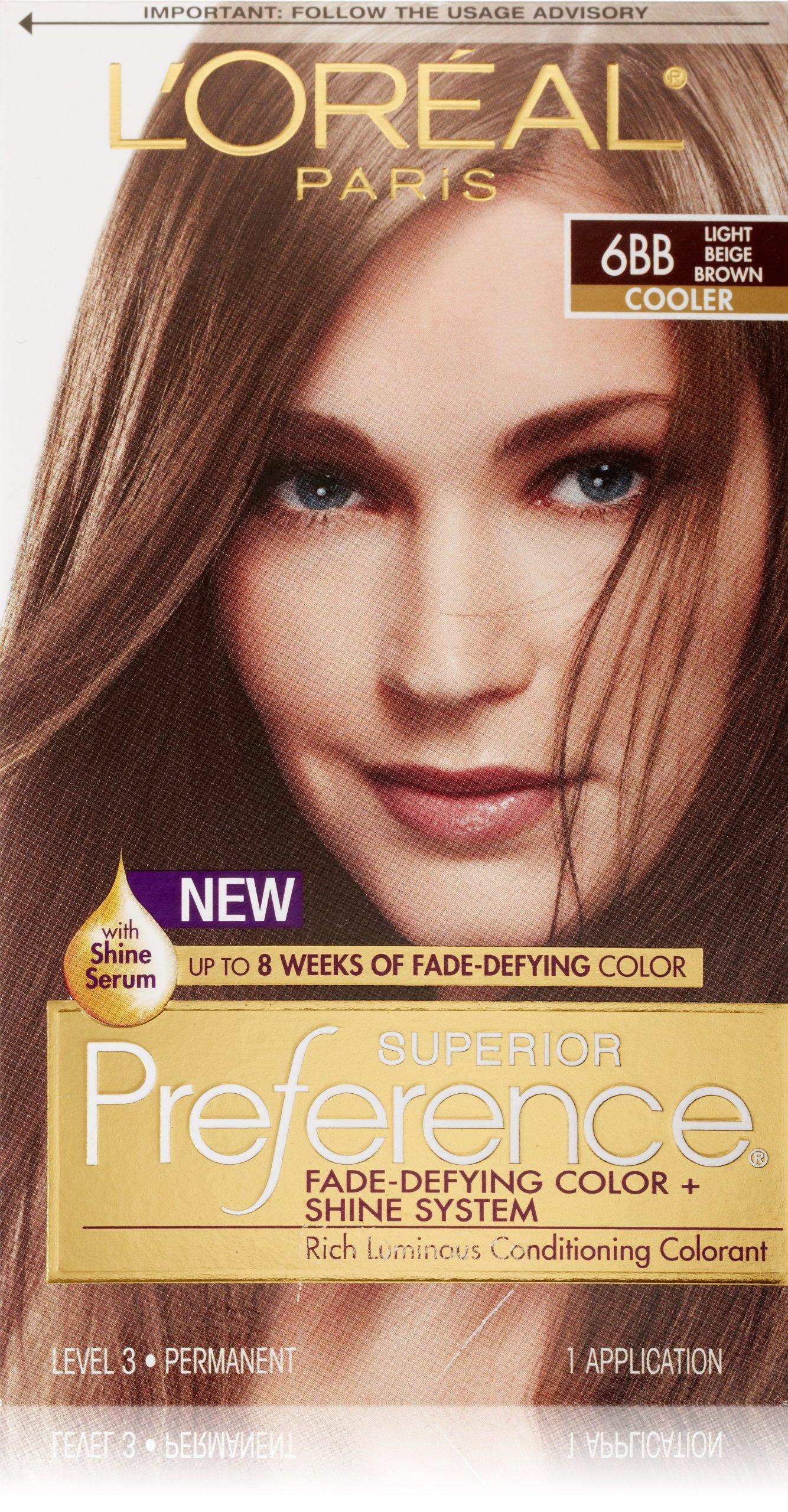 L'Oreal Paris Superior Preference Hair Color, 6BB Light Beige Brown