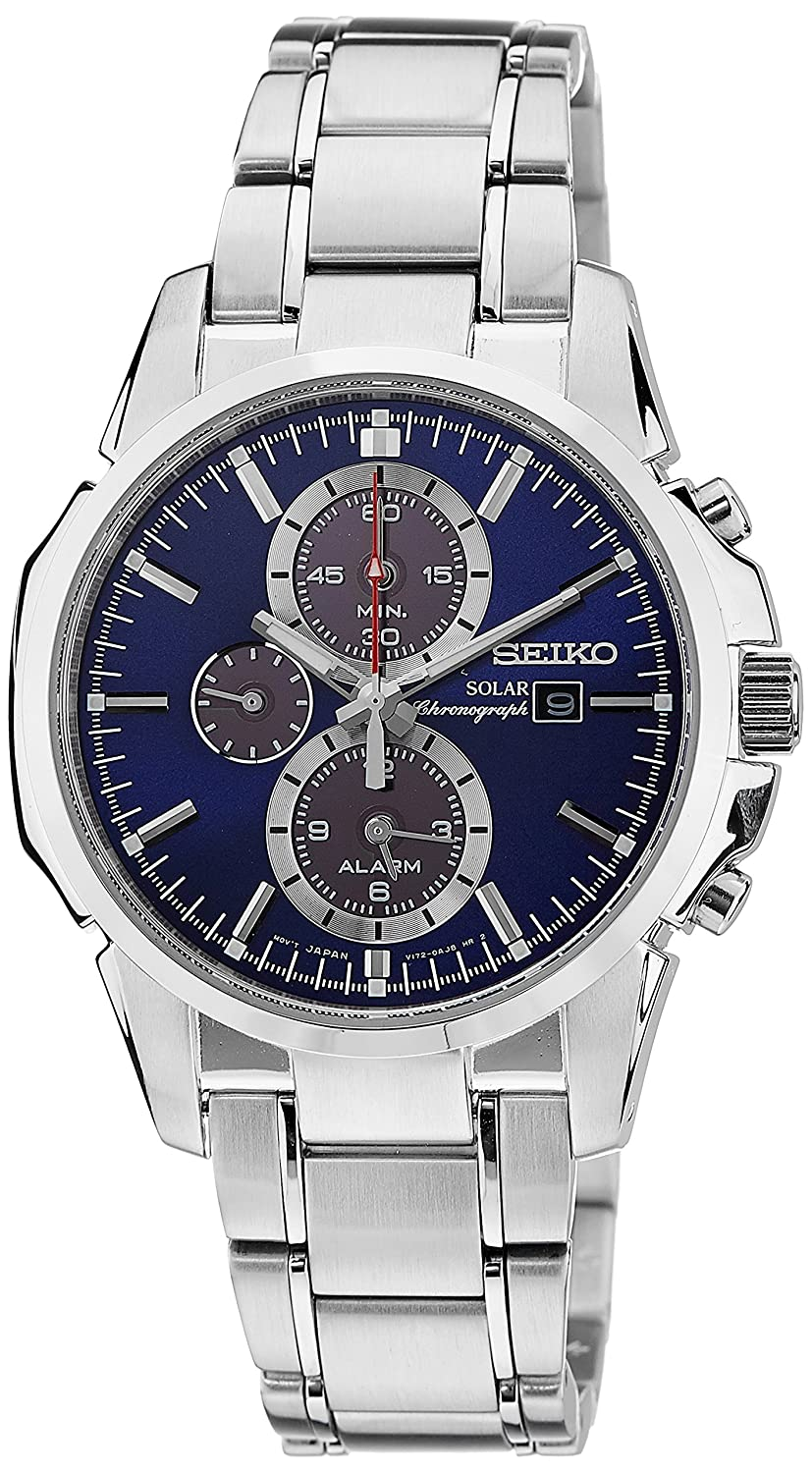 Amazon.com: Seiko Gents Solar Powered Chronograph Watch SSC085P1: Watches