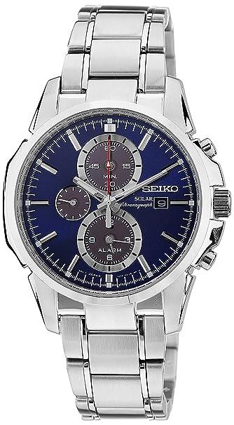 Amazon.com: Seiko Gents Solar Powered Chronograph Watch SSC085P1: Watches