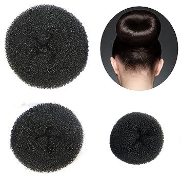 How to do a bun with a donut long hair
