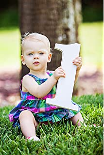 Amazoncom Half Sign Baby Photo Prop Sign Large Numbers