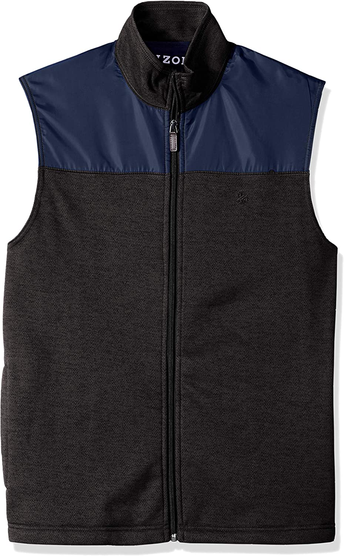 IZOD Mens Big and Tall Full Zip Soft Fleece Vest