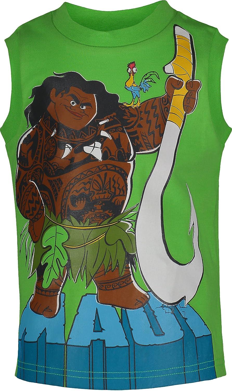 Grey Disney Moana Maui Toddler Boys 3-Piece T-Shirt /& French Terry Shorts Set