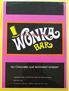 graphic relating to Printable Wonka Bar Wrapper identified as Willy wonka chocolate wrapper template