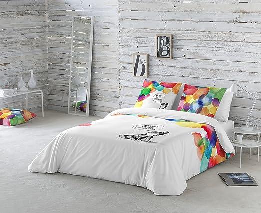 La Volátil Colores Funda nórdica, algodón, Multicolor, Cama 105 cm ...