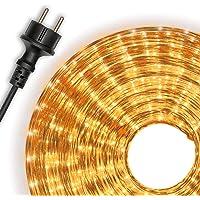 Nipach GmbH 10 m microlicht lichtslang, lichtslang, geel, voor binnen en buiten, lichtdecoratie voor tuin, feest…