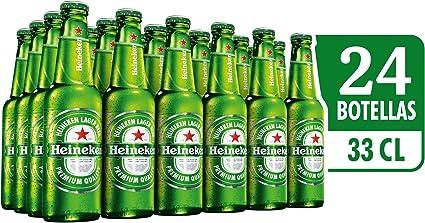 Heineken Cerveza - Caja de 24 Botellas x 330 ml - Total: 7.92 L: Amazon.es: Alimentación y bebidas