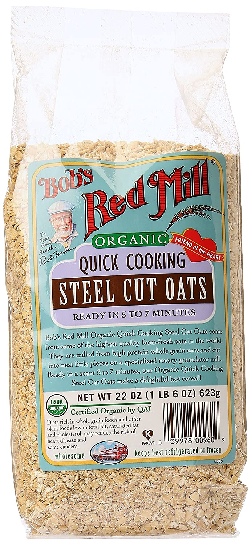 Bob's Red Mill Organic Quick Cook Steel Cut Oats, 22 Ounce