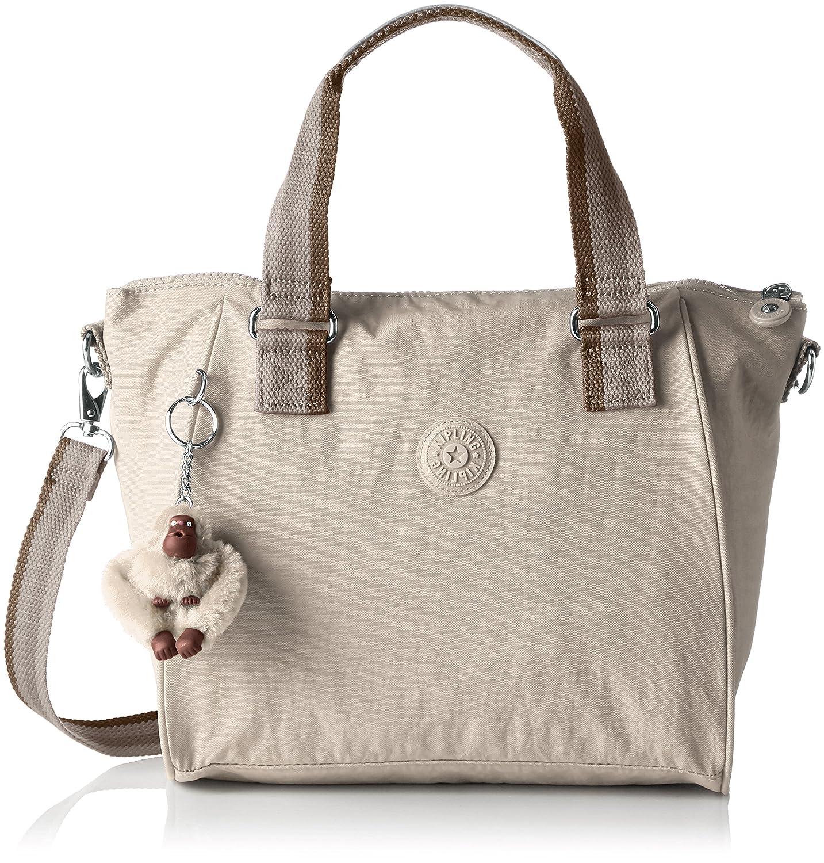 Kipling Womens Amiel Top-Handle Bag Pastel Beige C