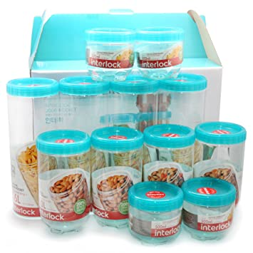 Perfect Lock U0026 Lock Refrigerator Door Clean Up Food Storage 12 Container Set