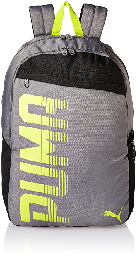 Puma Steel Grey Laptop Backpack (7566604)  Amazon.in  Bags 22ed29b834a29