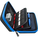 BRENDO Carrying Case for Nintendo 2DS XL, 3DS XL, 3DS Case, Fits Wall Charger, 24 Game Cartridge Holders and Large…