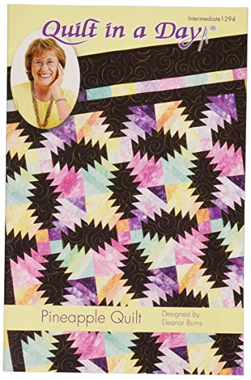 Amazon Eleanor Burns Pattern Pineapple Quilt By Quilt In A Day