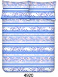 Bombay Dyeing Breeze Plus Collection Flat Double Bedsheet Set, Blue, 274 x 274 cm, 4920 A