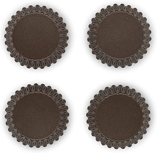 Cioccolato TEFAL  J1608102 Set Success di 4 stampi per tortine in alluminio 11 x 9 x 2,5 cm