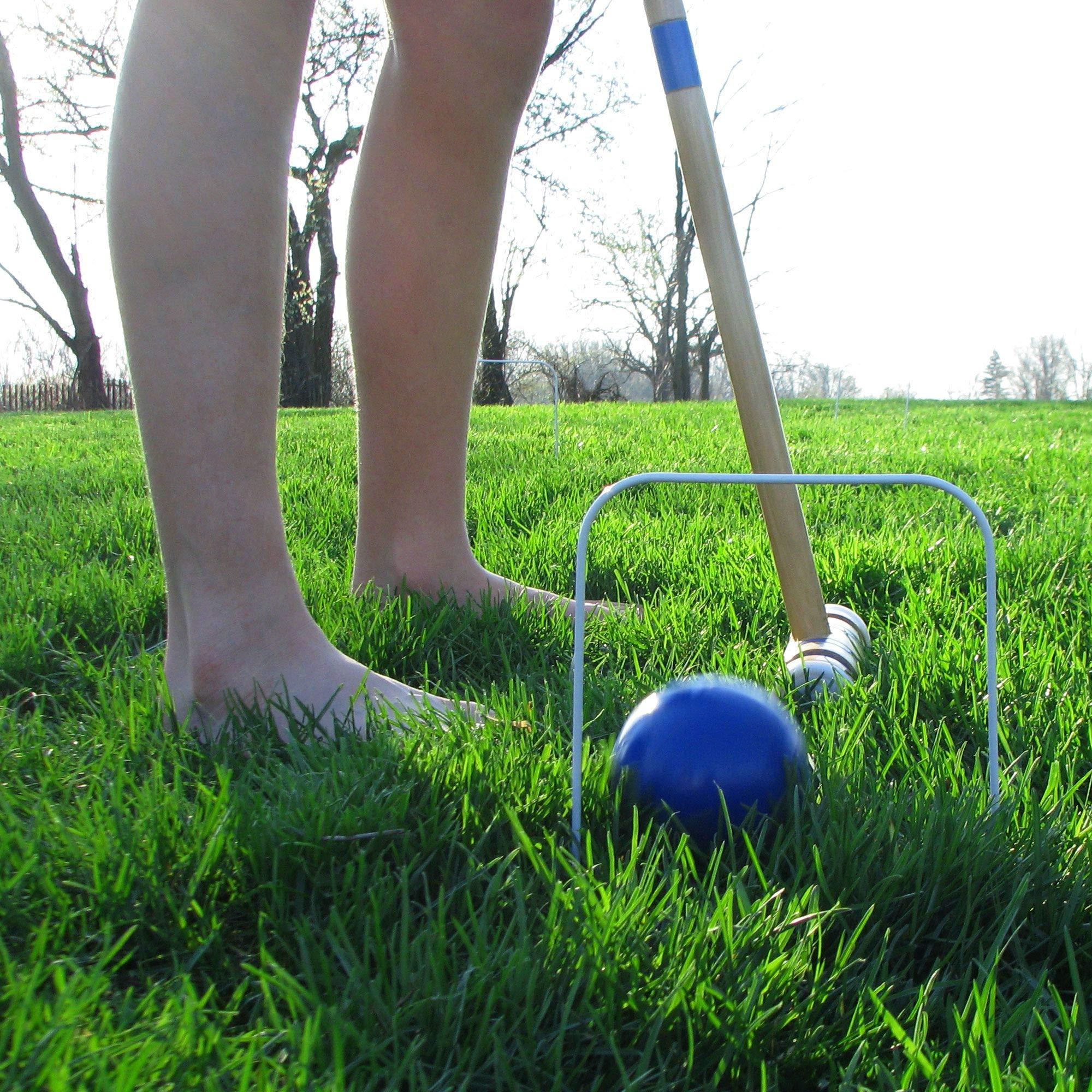 Aromzen Croquet Set Fun Vintage Lawn Recreation Game