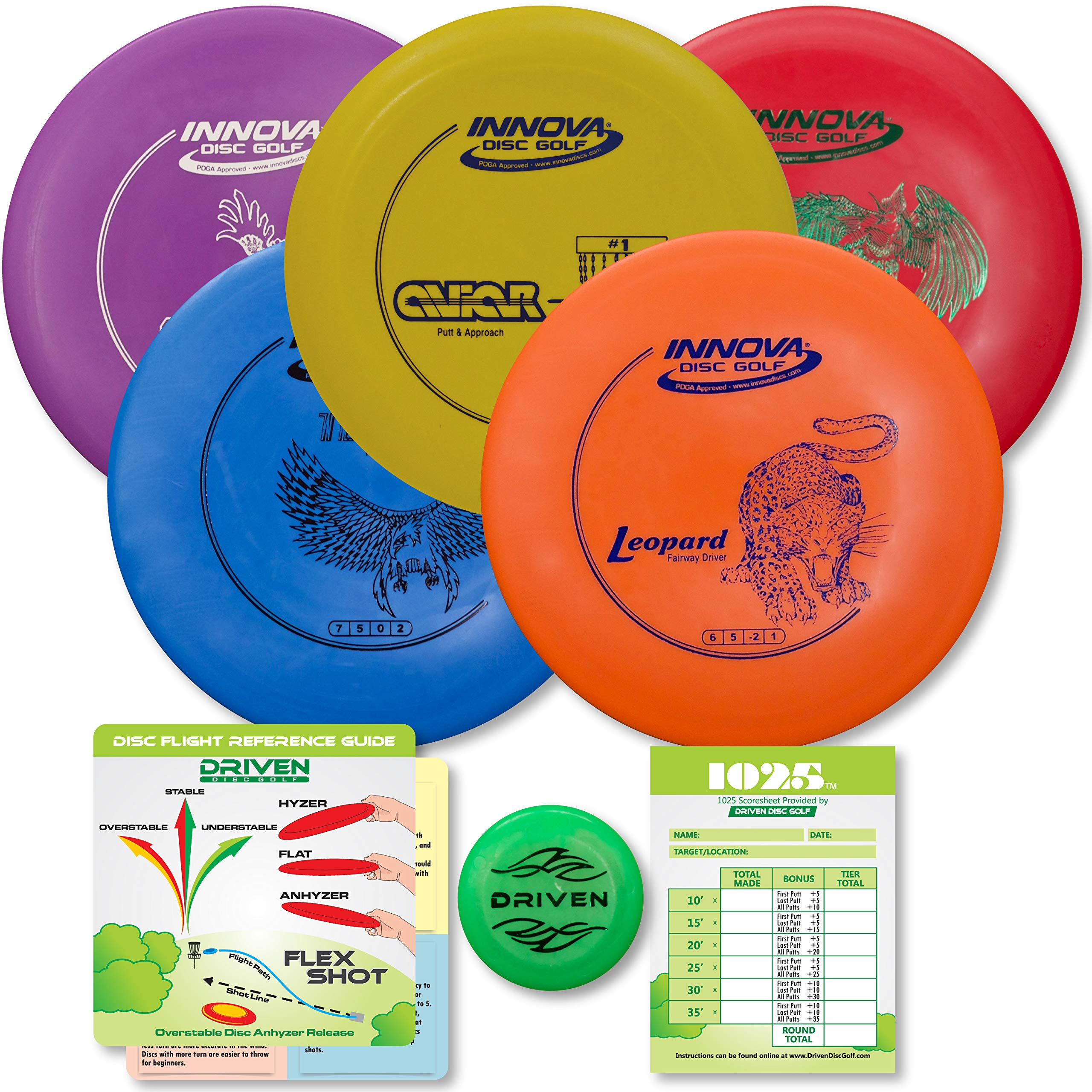 Driven Disc Golf Set - Innova 5 Disc Set by Driven Disc Golf