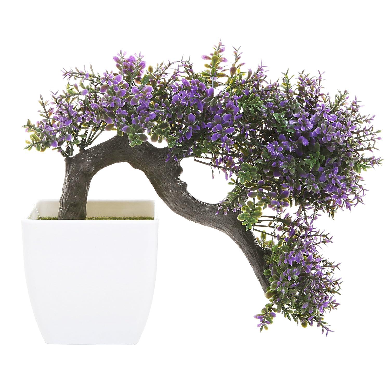 Amazon Mygift Purple Blossom Artificial Bonsai Tree Faux